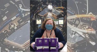 Nanoracks Julie Wolfenbarger holds MixStix